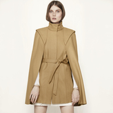Maje Cape coat in wool and cashmere