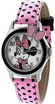 Disney Women's MINAQ558 Minnie Mouse Hot Pink Strap Watch