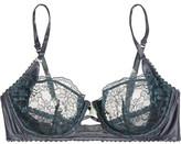 Heidi Klum Intimates Venetian Embrace Lace And Satin Underwired Bra