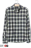 Gap x GQ Michael Bastian plaid flannel shirt