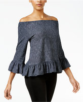 Sanctuary Juliana Printed Off-The-Shoulder Top