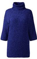 Classic Women's Plus Size Marl Turtleneck Tunic Sweater-Rich Sapphire