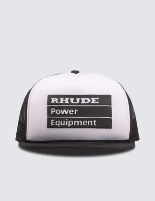 Rhude Power Equipment Trucker Cap