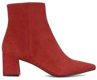 Mint Velvet Olivia Red Suede Ankle Boots