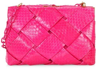 Nancy Gonzalez Small Woven Elaphe Frame Clutch