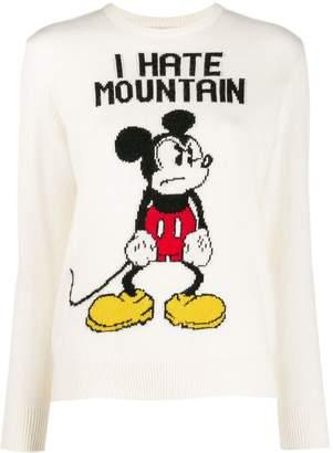 MC2 Saint Barth round neck Mickey Mouse slogan jumper