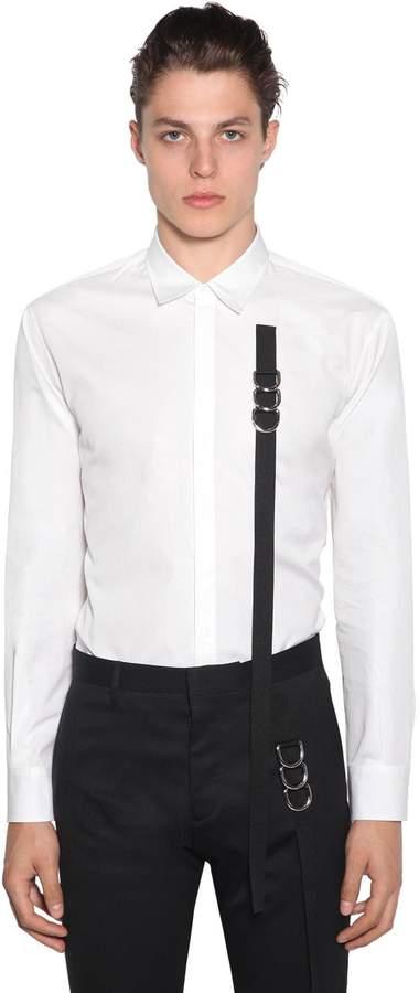 DSQUARED2 Cotton Poplin Shirt W/ Tape