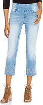 Jag Jeans Baker Pull-On Embroidered Hem Crop