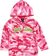 John Deere Pink Camo 'John Deere' Zip-Up Hoodie - Infant, Toddler & Girls