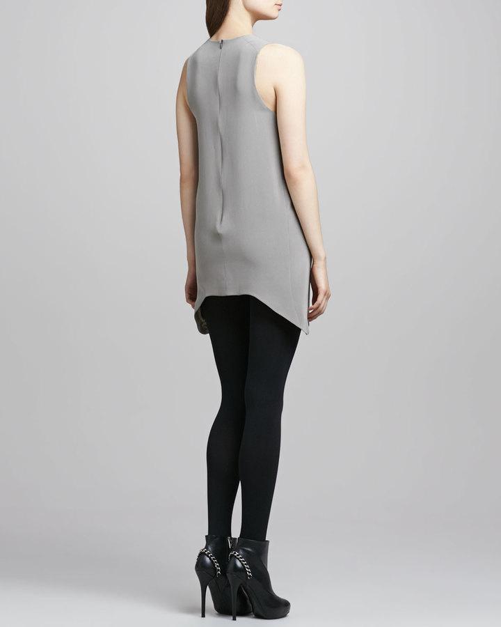 Theyskens' Theory Dugs Silk Sleeveless Dress