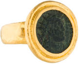 Gurhan Byzantine Carved Coin Ring w/ Tags