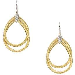 Marco Bicego 18K Yellow Gold Cairo Drop Earrings with Diamonds