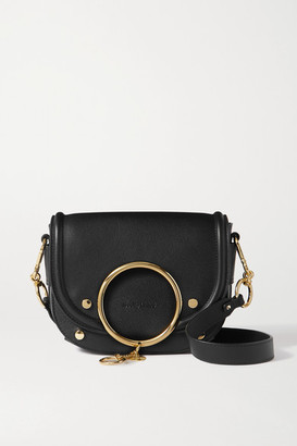 See by Chloe Mara Leather Shoulder Bag - Black
