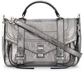 Proenza Schouler Silver PS1 Medium Leather Shoulder Bag