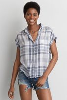 American Eagle Outfitters AE Short Sleeve Button Down Shirt