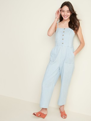 Old Navy Button-Front Chambray Cami Jumpsuit for Women