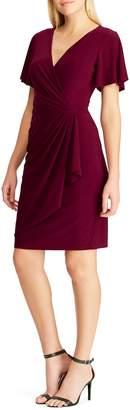 Chaps Pleated Sheath Dress
