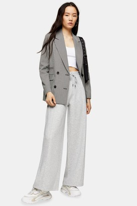 Topshop Womens Grey Slouch Slouch Wide Leg Joggers - Grey Marl