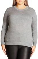 City Chic Zigzag Sweater (Plus Size)