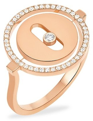 Messika Lucky Move PM 18K Rose Gold Diamond Ring