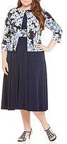 Jessica Howard Plus Floral-Print 2-Piece Jacket Dress