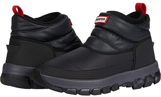 Hunter Insulated Snow Ankle Boot (Black) Women's Shoes