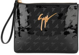 Giuseppe Zanotti Design Margery embossed clutch bag - women - Polyester/Polyurethane - One Size
