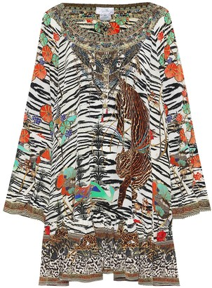 Camilla Animal-print silk minidress
