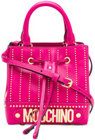 Moschino logo plaque cross-body bag - women - Calf Leather - One Size