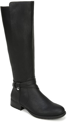 LifeStride Faux Leather High Shaft Rding Boots- Xtrovert