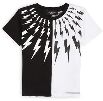 Neil Barrett Thunderbolt Colour-Block T-Shirt (4-14 Years)
