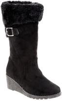 KensieGirl Black Wedge Boot