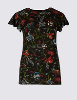 Per Una Floral Print Short Sleeve T-Shirt