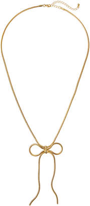 Stella & Ruby Snake Chain Bow Necklace