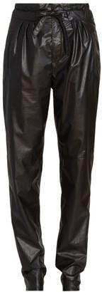 Isabel Marant Duard Faux-Leather Drawstring Pants