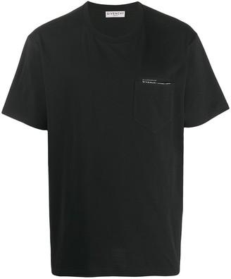 Givenchy ribbon trimmed logo T-shirt