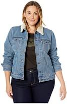 Levi's Plus Plus Sherpa Trucker (Doin' Fine) Women's Clothing