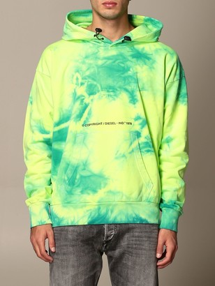 Diesel Sweatshirt In Cotton With Tie Dye Print