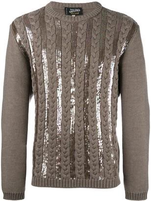 Jean Paul Gaultier Pre Owned Sequined Knitted Jumper