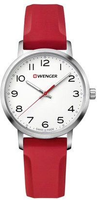 Wenger Unisex Analogue Quartz Watch with Silicone Strap Classic Avenue 01.1621.105