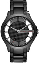 Armani Exchange A|X Men's Black Stainless Steel Bracelet Watch 46mm AX2189