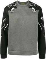 Valentino panther sweatshirt - men - Viscose/Cotton/Polyurethane - S