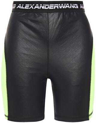 alexanderwang.t Neon-paneled Satin-jersey Shorts