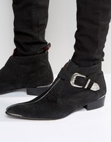 Jeffery West Adam Ant Buckle Boots