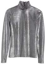 Tracy Reese Silver Turtleneck Top