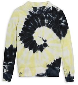Aqua Girls' Tie Dye Swirl Sweater - Big Kid