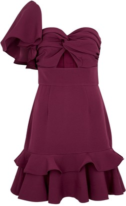 Keepsake Delight Ruffle-trimmed Cady Mini Dress