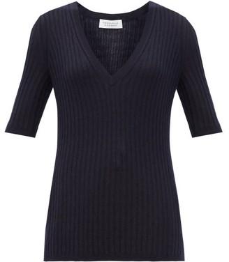 Gabriela Hearst Carolina V-neck Cashmere-blend Sweater - Navy
