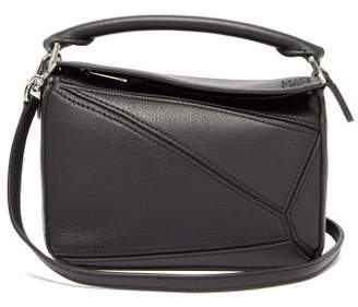 Loewe Puzzle Mini Leather Cross-body Bag - Womens - Black