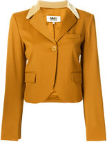MM6 MAISON MARGIELA velvet collar blazer - women - Polyester/Spandex/Elastane/Viscose/Virgin Wool - 40